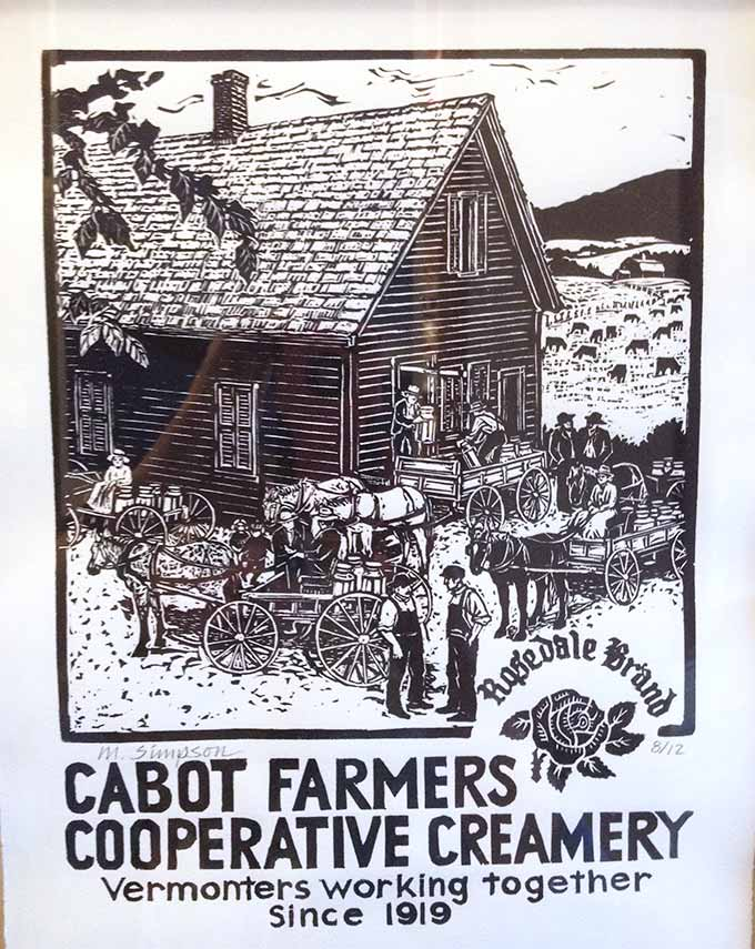 Cabot Creamery in Cabot, Vermont is a lovely little (cheddar) slice of rural New England.