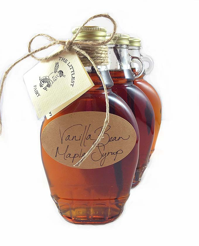 You'll love this quick, easy recipe: Vanilla Bean Maple Syrup made from pure maple syrup and vanilla beans.