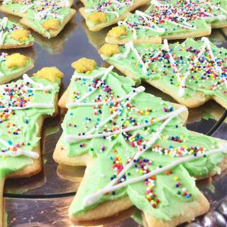 Gorgeous Christmas roll out cookies. Just seven ingredients. Light, crisp and buttery. These will disappear fast.