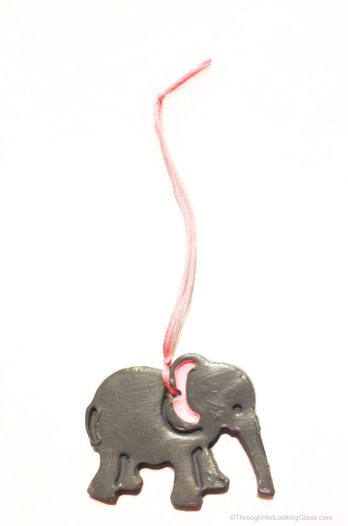 Clay Elephant Christmas Ornaments Through Her Looking Glass