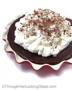Indulgent Flourless Dark Chocolate Cake. Rich and decadent. Gluten free. Easy to bake.