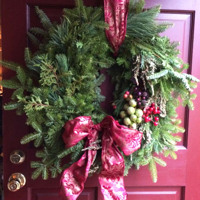 Exclusive Barrington Rhode Island Christmas Home Tour. The home owner decorates with her own signature style.