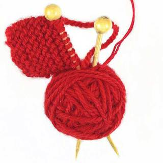 DIY Christmas ornament, quick & simple. Perfect stocking stuffer for a knitter in your life. You can make this in 20 minutes. Yarnball Christmas Ornament.