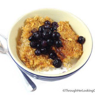 Baked Oatmeal. Quick and easy to make. Delicious oatmeal casserole. Serve with honey or maple syrup. Top with fruit or raisins. Great breakfast or brunch.