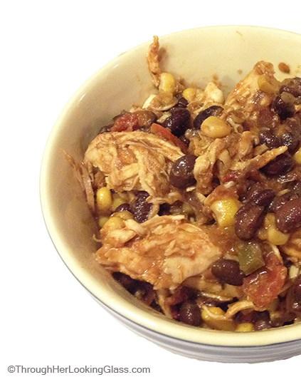 Mexican Shredded Chicken. Tastes great, easy and versatile. Cooks in the crockpot all day. Serve with tacos, as a casserole or use as a salad topping.