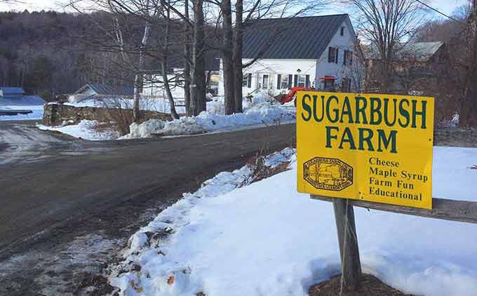 Sugarbush Farm, Woodstock VT. Cheese and maple syrup tasting at a charming VT farm.