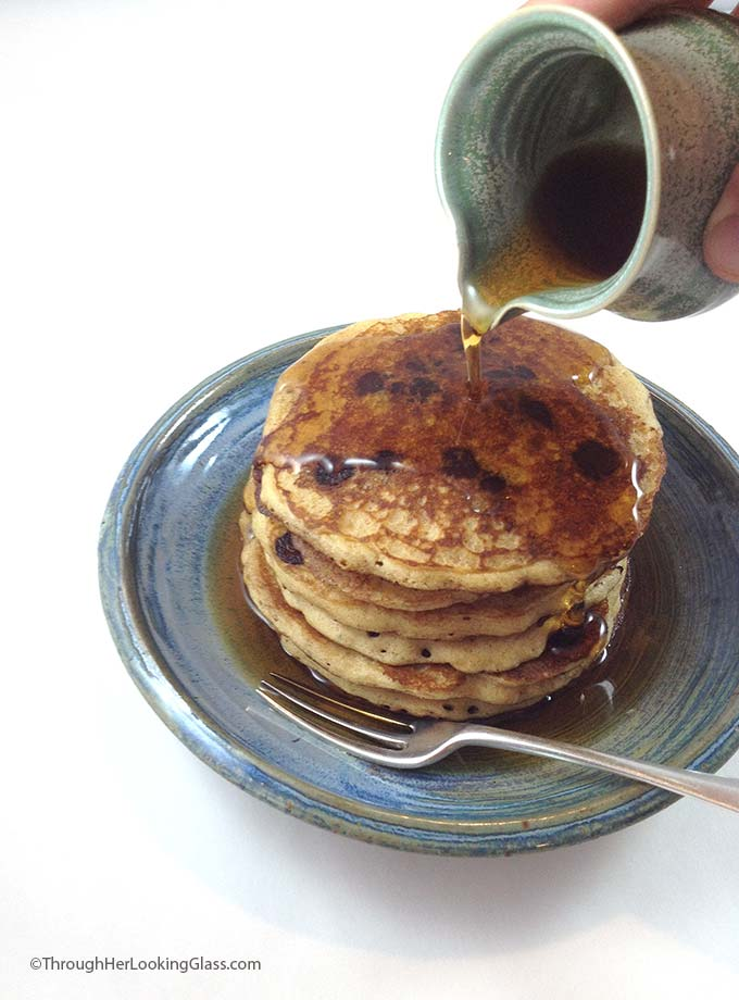 Catherine's Whole Wheat Pancakes. Tender, wheat pancakes. Tasty, healthy recipe. Add in chocolate chips or blueberries for an extra special breakfast treat.