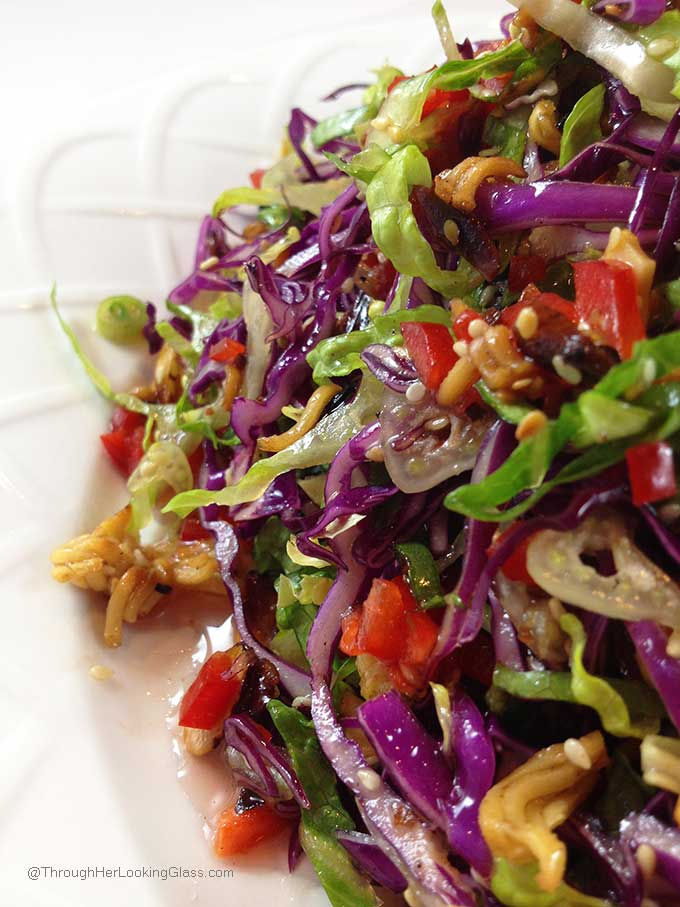 Crunchy Asian Salad with light, sweet dressing. Gorgeous salad with ...