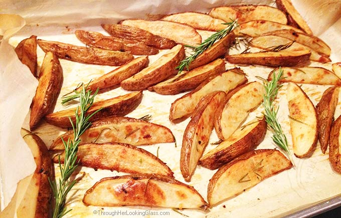 Rosemary Garlic Steak Fries. Crispy and flavorful. Tasty and easy. Inexpensive. These steak fries are hands down our favorite way to eat potatoes.