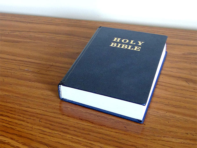 I'm Not Bitter or Anything. Then the pastor grabbed an enormous black study Bible from his bag, brandished it above his head. This… is my… spiritual WEAPON!