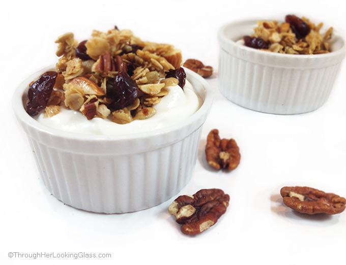 Cherry Pecan Granola - Through Her Looking Glass