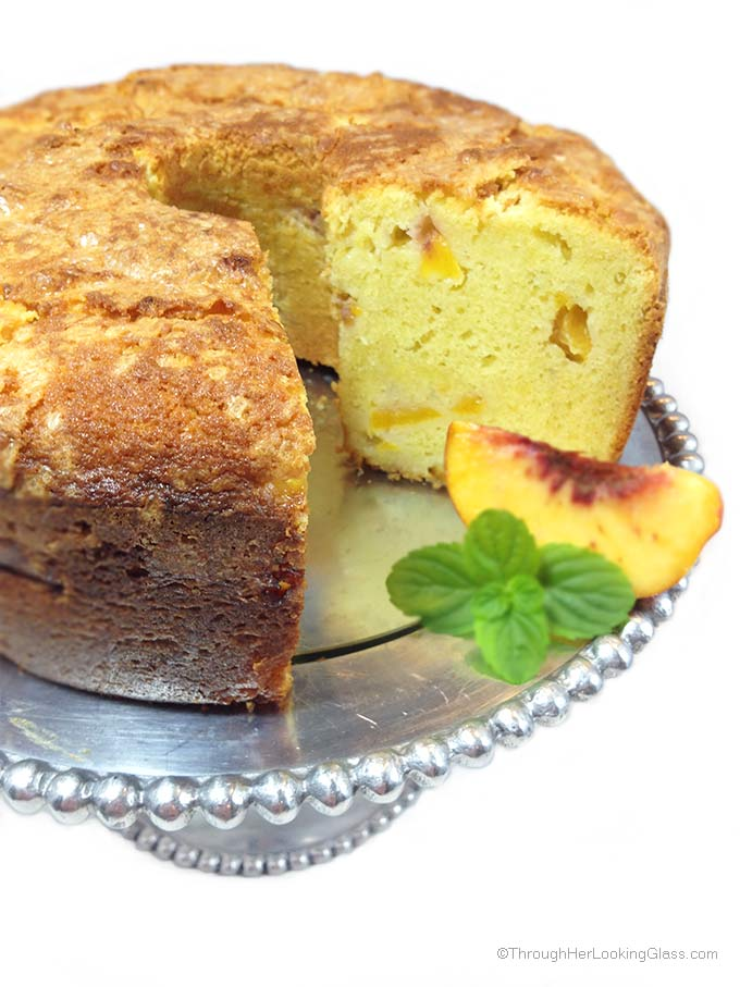 Fresh Moist Peaches Cake