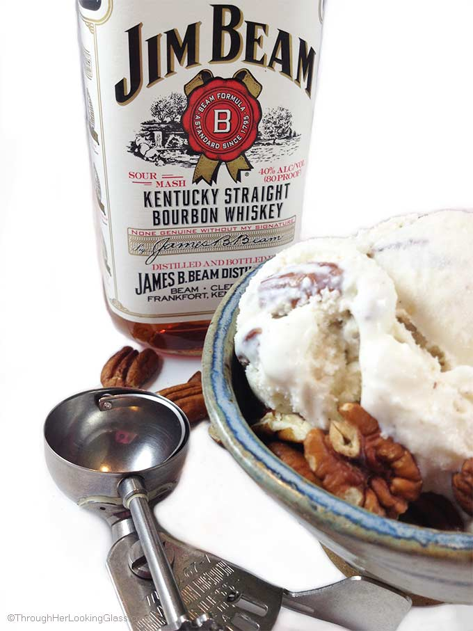 Jim Beam Toasted Pecan Ice Cream. The easiest, sophisticated ice cream flavors you'll ever make. Three ingredients: pecans, bourbon & vanilla ice cream.