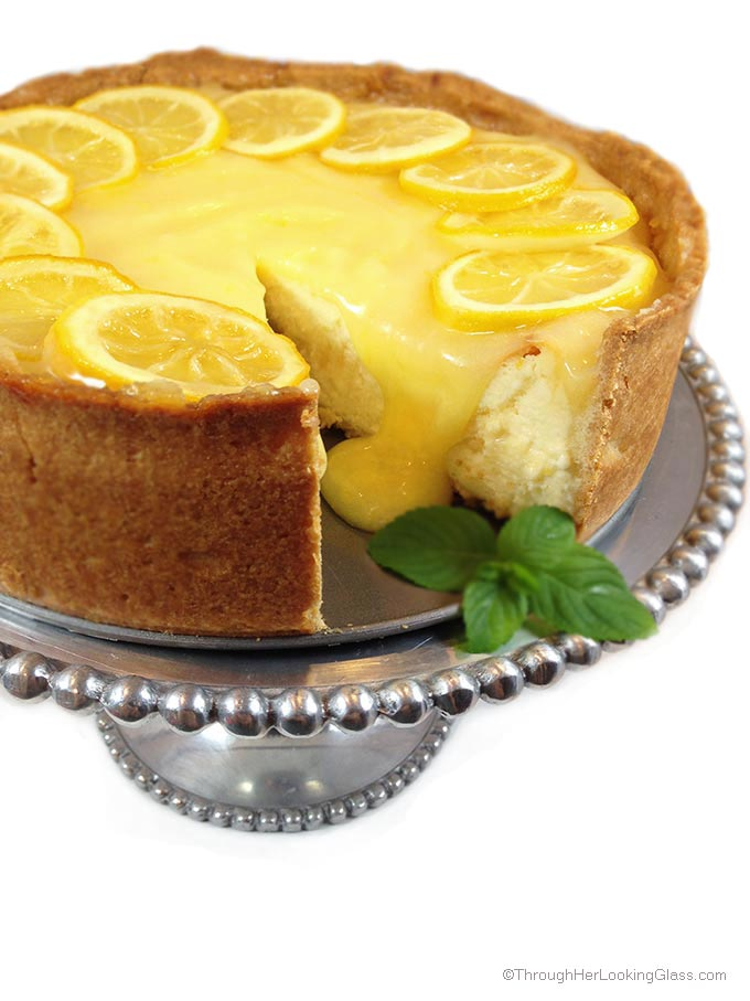 Candied Lemon Cheesecake - Through Her Looking Glass