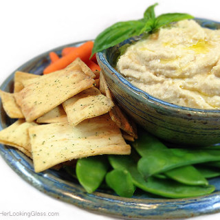 Simple Hummus. Fast & easy recipe for delicious chick pea hummus. All natural. Garbanzo chick peas, tahini, garlic, fresh lemon juice. Great dipping!