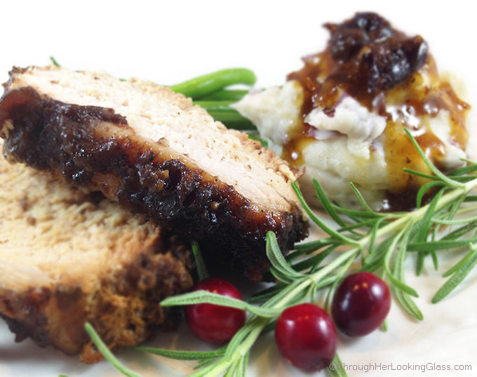 Easy Slow Cooker Cranberry Dijon Pork Roast. Sweet flavor from whole berry cranberry sauce and cranberry juice. Dry mustard gives a little zing!