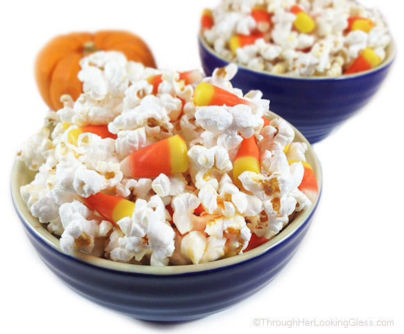 Candy Corn Kettle Corn: sweet, festive fall treat. 5 minutes. For lunch boxes and class parties. Delight kettle corn and candy corn lovers of all ages.