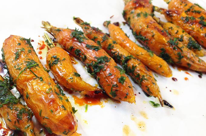 Honey Roasted Carrots & Fresh Dill. Roasted carrots with olive oil, sea salt & honey. Fresh dill. Delicious and gourmet side. So easy.