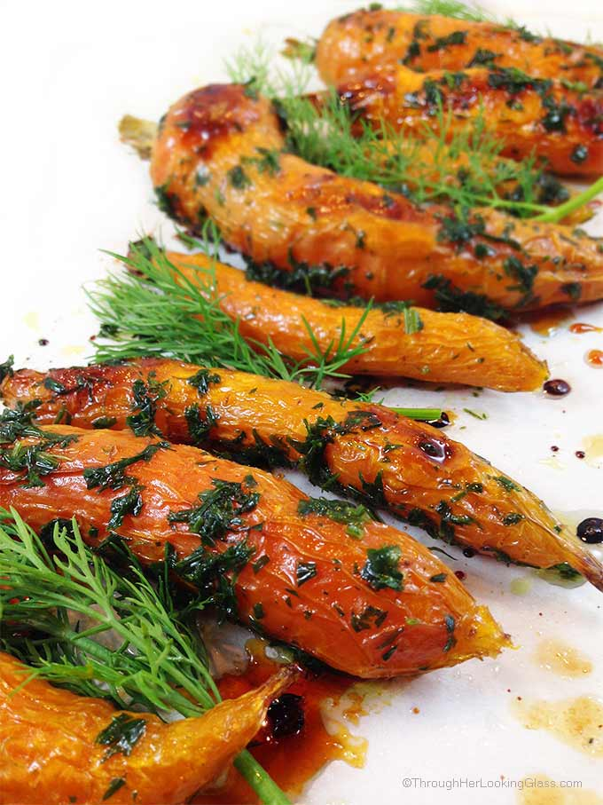 Honey Roasted Carrots & Fresh Dill. Roasted carrots with olive oil ...