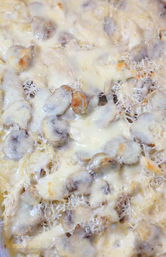 Turkey Tetrazzini is a wonderful main dish with turkey, sautéed mushrooms and pasta. Wine cream sauce gives exceptional flavor.