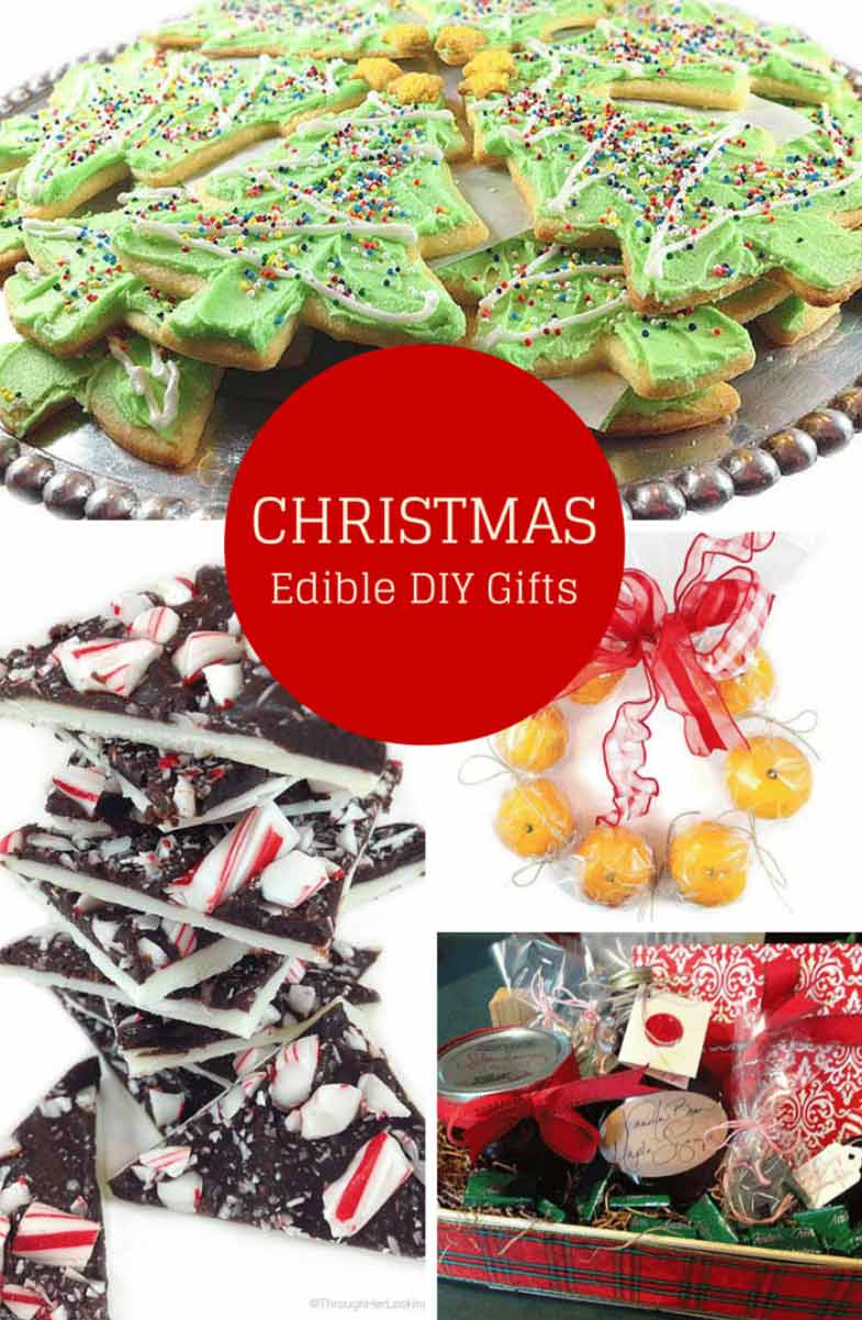 Best DIY Edible Christmas Gifts: cookies, peppermint bark, gingerbread biscotti and more! Most delicious edible gift recipes of the season!