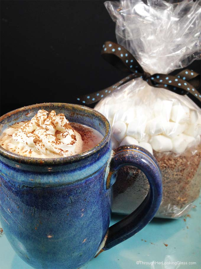 Hershey's DIY Hot Cocoa Mix: this hot cocoa is rich, creamy and chocolaty. And best of all, doesn't use up the milk in the fridge. Quick and easy, with no preservatives, you'll quit buying store bought cocoa mix.