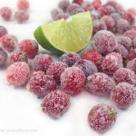 """Lime Sugared Cranberries: gourmet snacking, gift baskets, garnishing cheesecake, ice-cream & holiday drinks. Cheese boards & appetizers. They """"pop"""" in your mouth: sweet & mouth-puckeringly tart."""