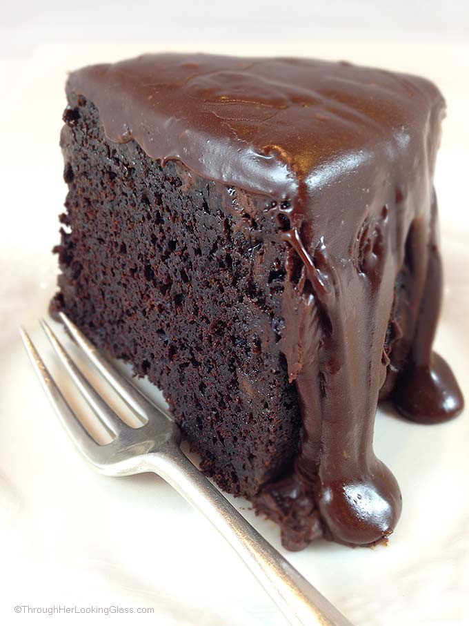 Southern-Style Chocolate Cake With Chocolate Ganache Frosting Recipe ...