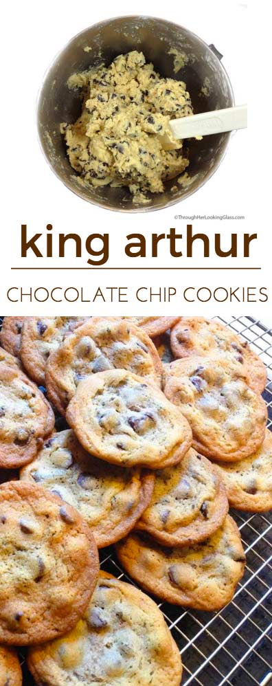 King Arthur Chocolate Chip cookies. Love the crispy outside, chewy inside. Great buttery flavor. Best chocolate chip cookie recipe ever.