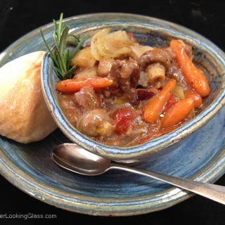 Tender and delicious, Poor Man's Beef Stew cooks for just 2 hours w/out browning the beef first! You'll be delighted with this quick, flavorful & easy stew.