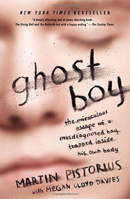Today we're having a virtual book discussion on the book Ghost Boy by Martin Pistorius. I love talking about real here. Things that really matter.