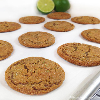 Lime Sugared Chewy Ginger Cookies