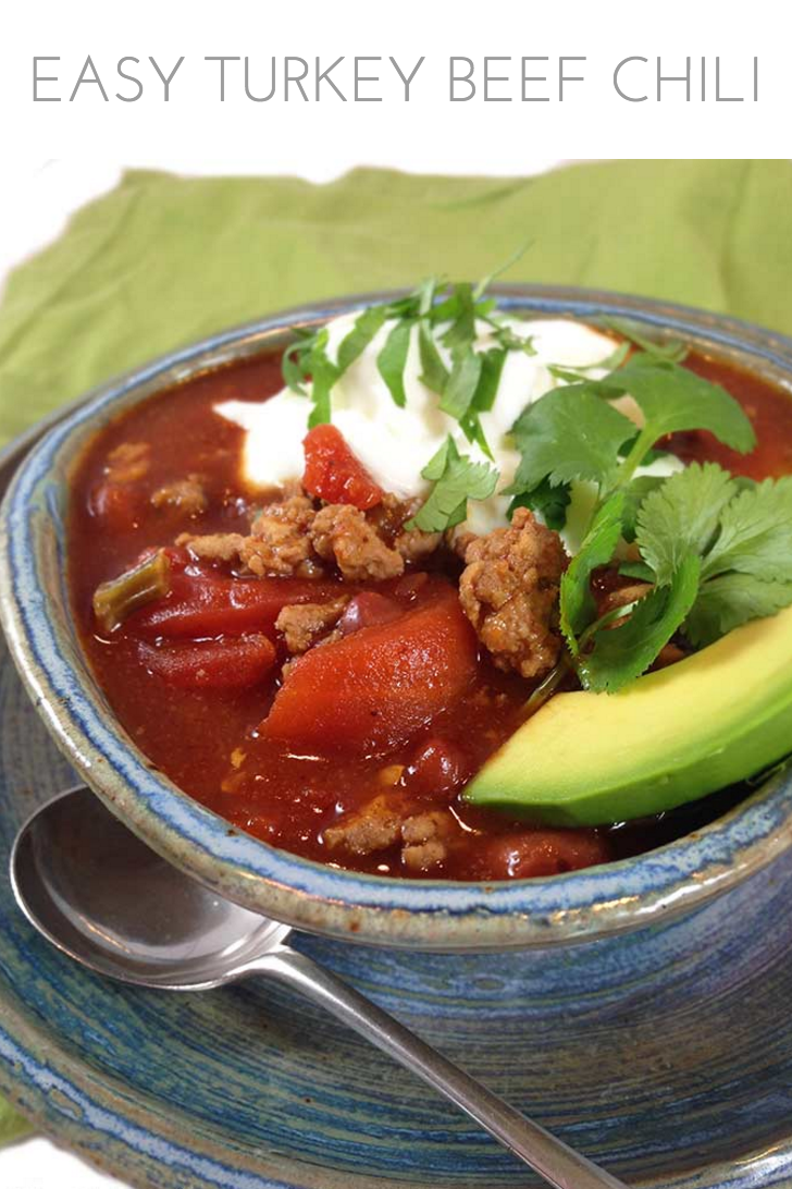 Easy Turkey Beef Chili - Through Her Looking Glass