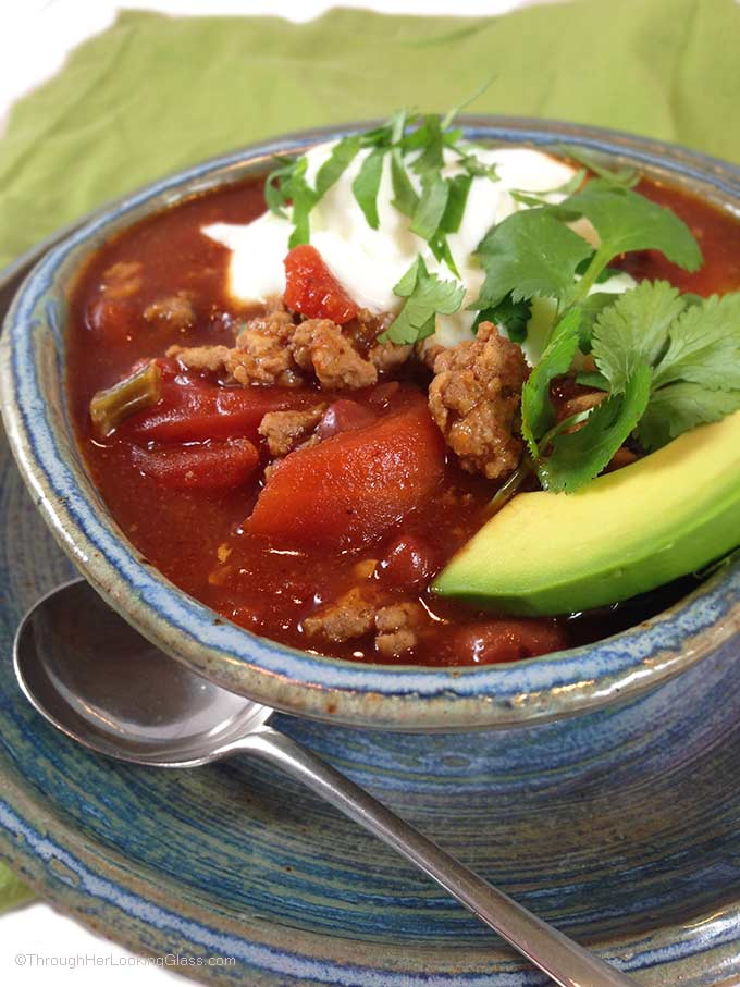 Easy Turkey Beef Chili is that it's so quick and easy to make. I can have dinner on the table in less than half an hour.