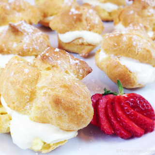 Lemon Curd Whipped-Cream Filled Easy Cream Puffs