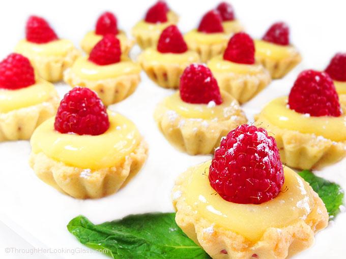 Raspberry Lemon Tartlets - Through Her Looking Glass