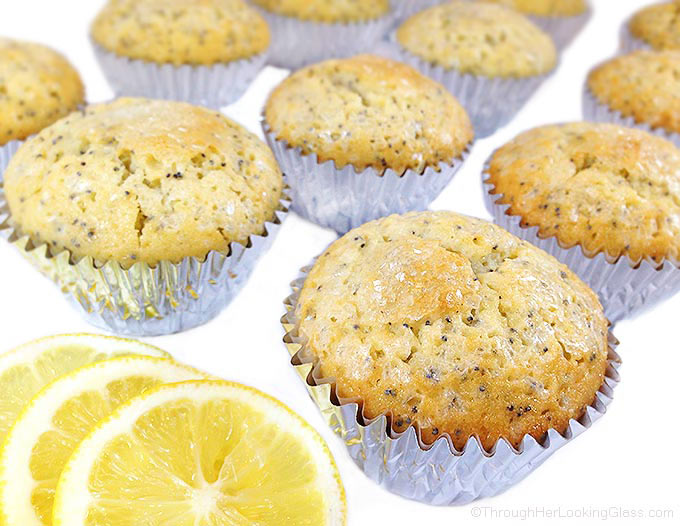 Bakery Lemon and Poppy Seed Muffins are tender, caky bakery-style muffins with cracked & sugary crunchy tops. W/vanilla & almond extracts and lemon zest.