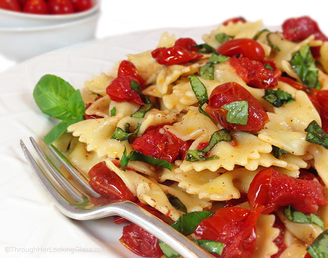 tomato basil pasta blistered tomato basil pasta salad w truffle through 11959