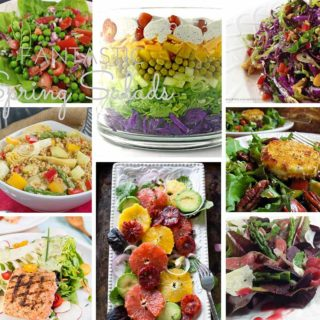Favorite Spring Salad Recipes with delicious homemade dressings from bloggers around the country. Crunchy, healthy, flavorful and delicious!