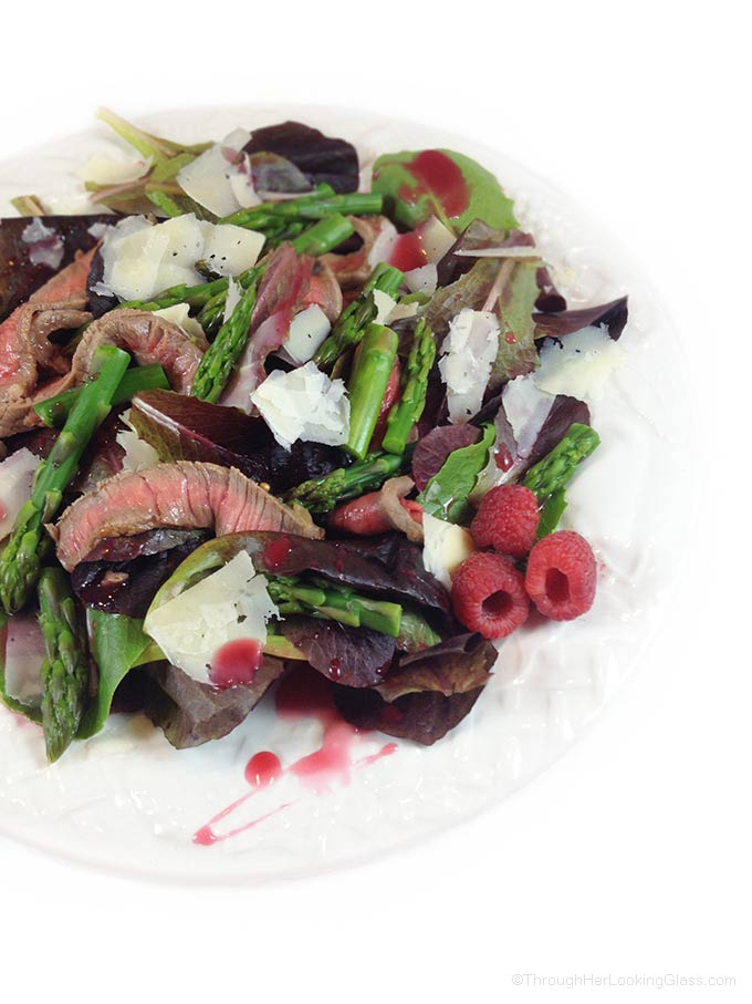 Steak & Asparagus Salad comes together quickly at the last minute, perfect for company. It's also a gorgeous and appetizing main dish salad to enjoy.