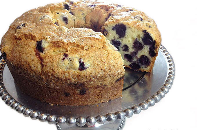 If you're a blueberry lover, this delicious Blueberry Pound Cake is for you. It's a moist, dense, buttery pound cake packed with plump, juicy blueberries.