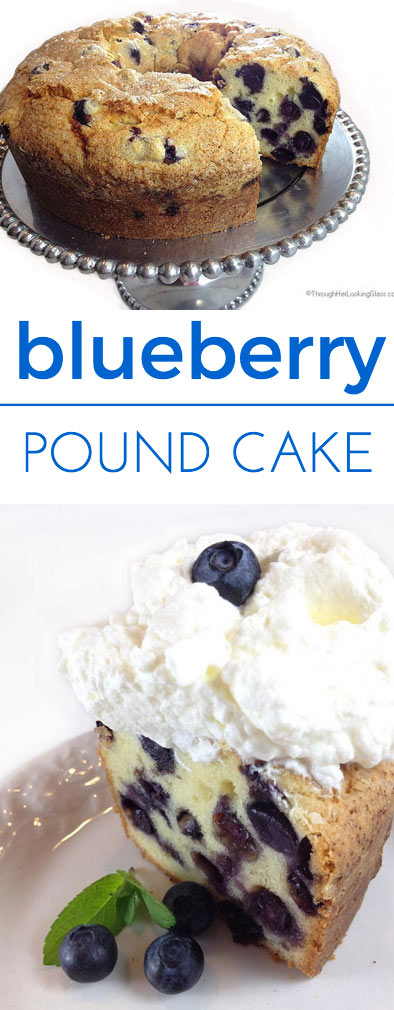 fresh slice of Blueberry Pound Cake is delicious served with Triple ...