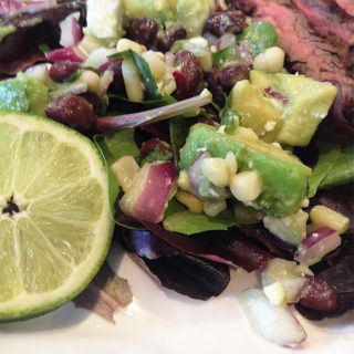 Lime Avocado Black Bean Dip w/Feta