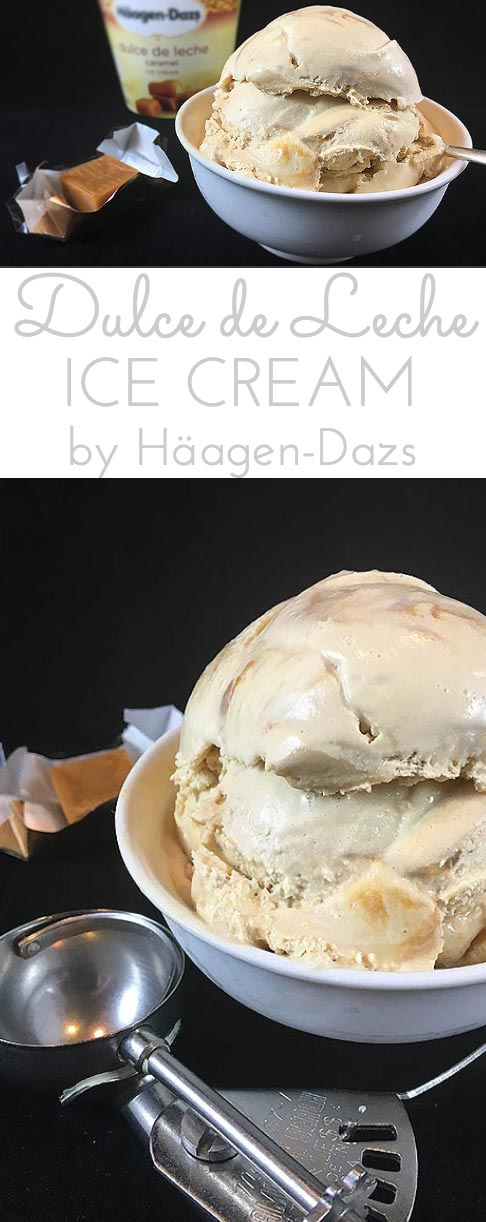Indulgent Dulce de Leche Ice Cream by Häagen-Dazs. Creamy caramel ice cream with intense flavor & caramel ripples! Find your #Aah! #Ad #Collective Bias