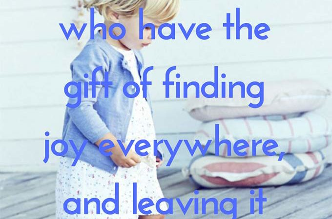 No Offense, But... There are souls in this world who have the gift of finding joy everywhere, and leaving it behind them when they go.