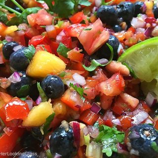 Fresh Peach Blueberry Salsa