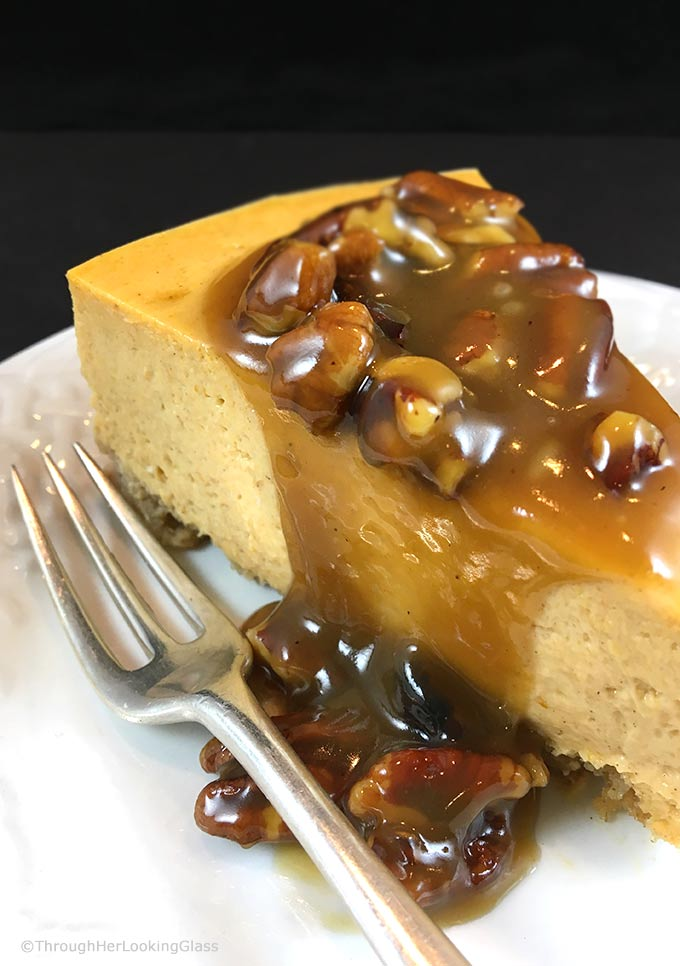 Maple Praline Pecan Sauce: ultimate New England pecan sauce transforms plain desserts into masterpieces. Nothing better than maple syrup, cream & pecans.