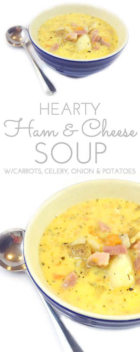 Hearty Ham and Cheese Soup. Chock full of veggies like carrots, potatoes, onion & celery, Ham and Cheese Soup works for a crowd. Perfect fall & winter soup.