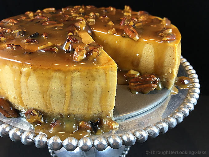 Maple Pumpkin Cheesecake w/Maple Praline Pecan Glaze ...