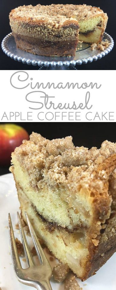 Cinnamon Streusel Apple Coffee Cake Through Her Looking